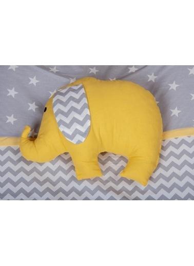 POKY Kız Erkek Bebek Filli Tek Yastık-Yuar Sarı